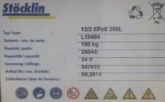 STÖCKLIN EDI 16 Elektrohubwagen